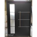 Дверь входная Техно со стеклопакетом двустворчатая