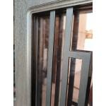 Дверь входная двустворчатая  ДН 28 со стеклом