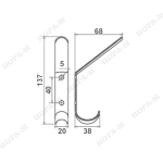 Крючок-вешалка (2-х рожковый)